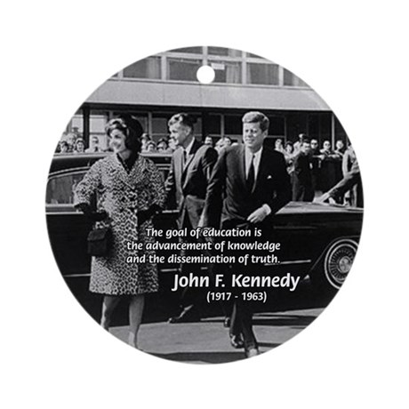JFK Knowledge Education Ornament (Round)