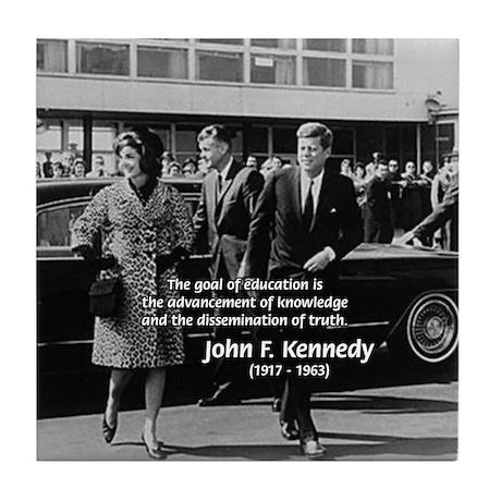 JFK Knowledge Education Tile Coaster