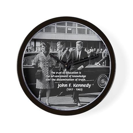 JFK Knowledge Education Wall Clock