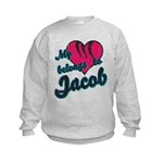 Heart Belongs To Jacob Kids Sweatshirt