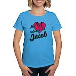 Heart Belongs To Jacob Women's Dark T-Shirt