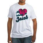 Heart Belongs To Jacob Fitted T-Shirt