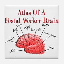 Postal Worker III Tile Coaster
