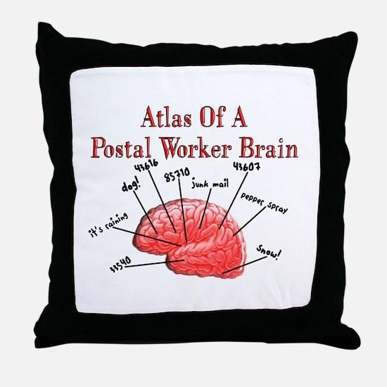 Postal Worker III Throw Pillow