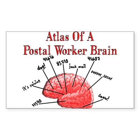 Postal Worker III Sticker (Rectangle 10 pk)