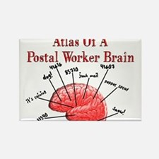 Postal Worker III Rectangle Magnet