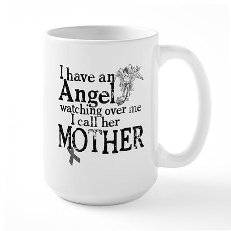 Brain Cancer Mother Angel Large Mug
