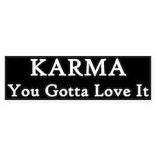 Karma Earl Bumper Bumper Sticker