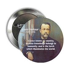 Science Knowledge Pasteur Button