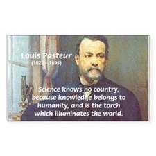 Science Knowledge Pasteur Rectangle Decal