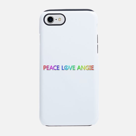 Peace Love Angie iPhone 7 Tough Case