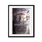 Greek Philosophy Plato Framed Panel Print