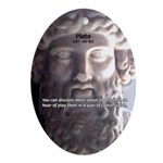 Greek Philosophy Plato Oval Ornament