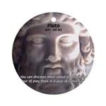 Greek Philosophy Plato Ornament (Round)