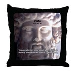 Greek Philosophy Plato Throw Pillow