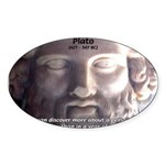 Greek Philosophy Plato Oval Sticker