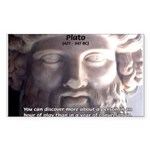 Greek Philosophy Plato Rectangle Sticker