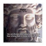Greek Philosophy Plato Tile Coaster