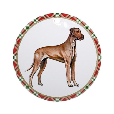 Great Dane Ornament (Round)