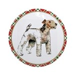 Wire Fox Terrier Ornament (Round)