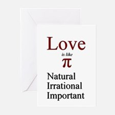 Love Pi Greeting Cards (Pk of 20)