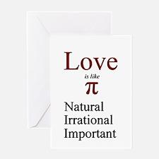Love Pi Greeting Card