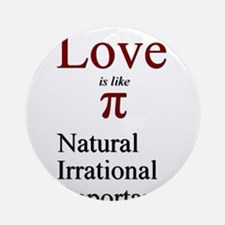 Love Pi Ornament (Round)