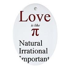 Love Pi Ornament (Oval)