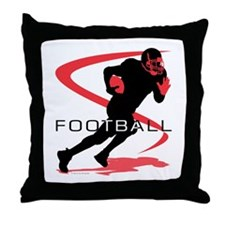 Youth football Throw Pillow