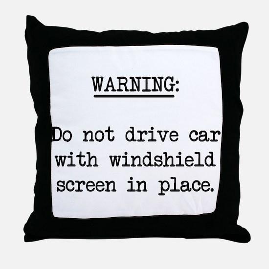 windshield screen Throw Pillow