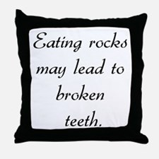 eating rocks Throw Pillow