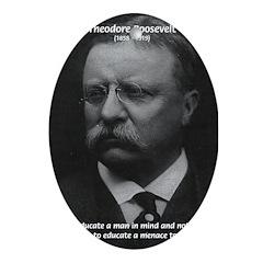 Moral and Mind: Roosevelt Oval Ornament