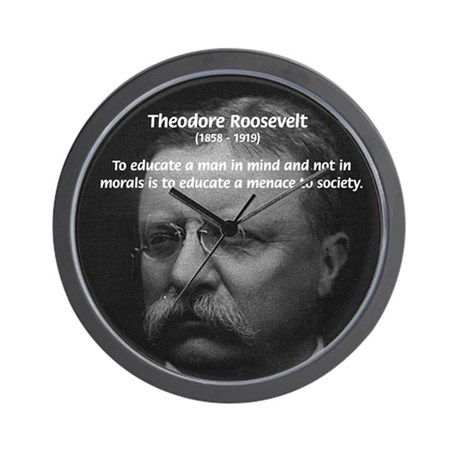 Moral and Mind: Roosevelt Wall Clock