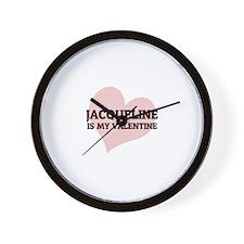 Jacqueline Is My Valentine Wall Clock