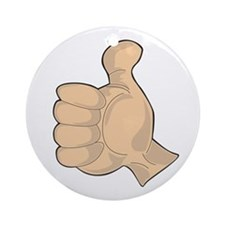 Hand - Thumbs Up Round Ornament