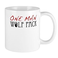 One Man Wolf Pack - Red Mug