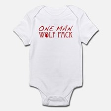 One Man Wolf Pack - Red Infant Bodysuit