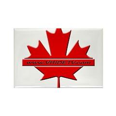 Vridetv maple leaf logo Rectangle Magnet