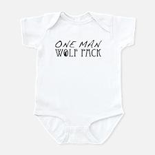 One Man Wolf Pack - Black Infant Bodysuit