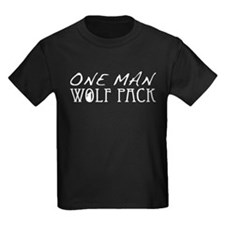 One Man Wolf Pack - Black T