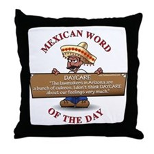 DAYCARE Throw Pillow
