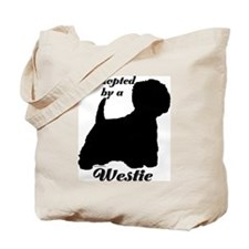 ADOPTED by a Westie Tote Bag