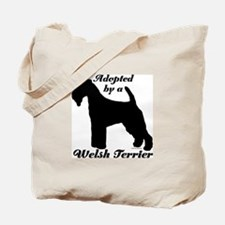 ADOPTED by a Welsh Terrier Tote Bag