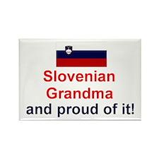 Proud Slovenian Grandma Rectangle Magnet