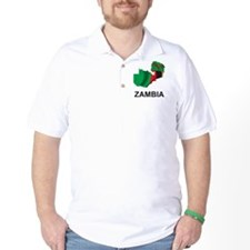 Map Of Zambia T-Shirt
