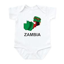 Map Of Zambia Infant Bodysuit