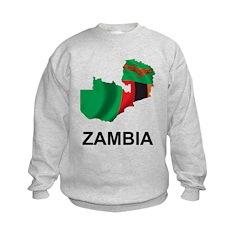 Map Of Zambia Sweatshirt