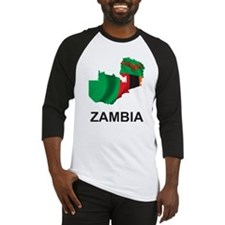 Map Of Zambia Baseball Jersey
