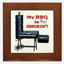 My BBQ is Smokin'! Framed Tile