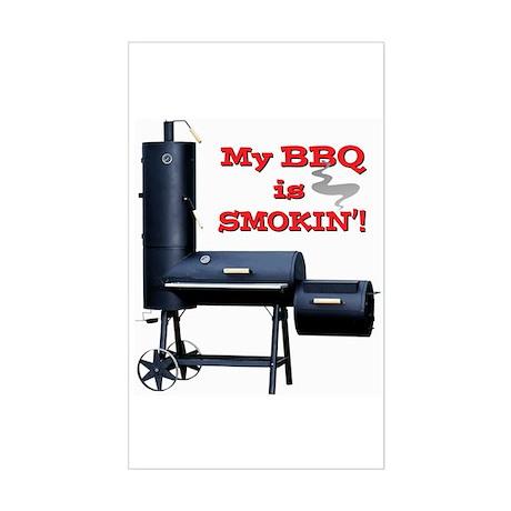 My BBQ is Smokin'! Sticker (Rectangle)